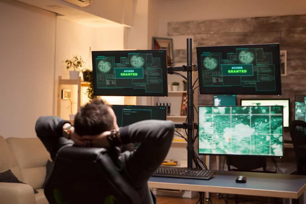 IT expert defending against cybercrime